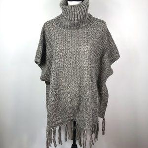 Sweater Turtleneck Poncho